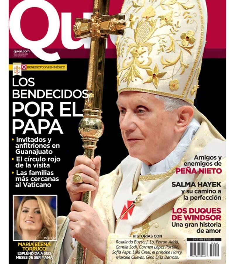 Su Santidad engalana la nueva portada de la revista Quién a propósito de su primera visita oficial a México.
