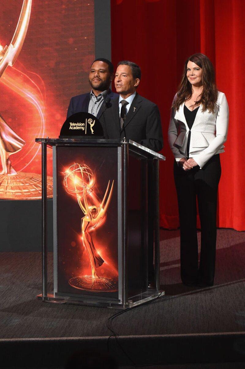 Anthony Anderson y Lauren Graham anuncuaron las nominaciones a los Emmy 2016.
