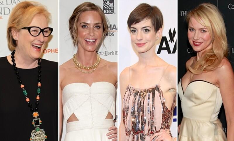 Meryl Streep, Emily Blunt, Anne Hathaway y Naomi Watts fueron algunas de las nominadas.