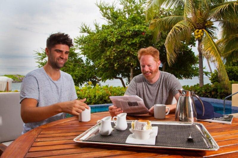 El actor de la serie Modern Family y Justin Mikita se dieron una espontánea escapada a Punta Mita, donde se relajaron en la playa y conocieron las islas Marietas.