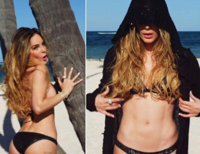 Belinda deja ver su abdomen de acero y su belleza en su segunda colaboracíon con Juan Magan.