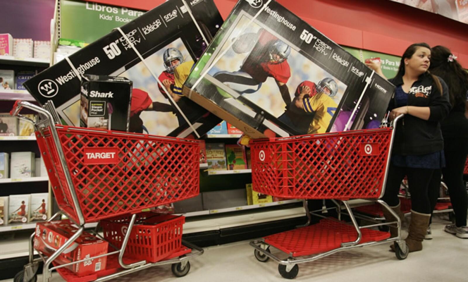 Se calcula que las ventas del Black Friday aumentarán este año 3.8%, a 11,400 millones de dólares, según International Council of Shopping Centers-Goldman Sachs.