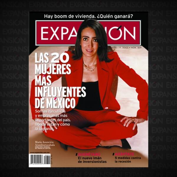 """En sólo 12 de Las 500 empresas más importantes de México había mujeres a la cabeza. """"La mujer no ha logrado permear el mundo corporativo"""", afirmaba María Asunción Aramburuzabala, accionista en los grupos Modelo y Televisa."""