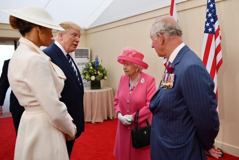 Donald Trump durante su visita de estado a Reino Unido