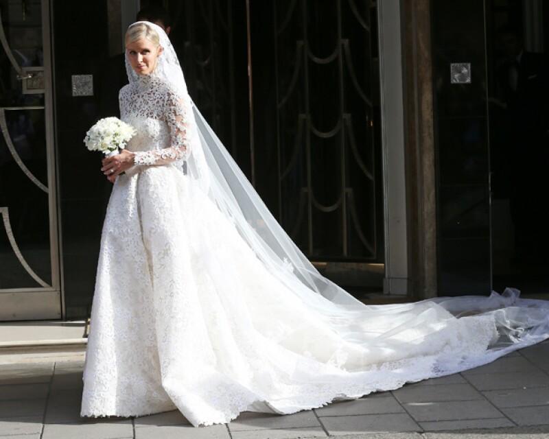 nicky hilton es captada dirigiéndose a su boda con james rothschild