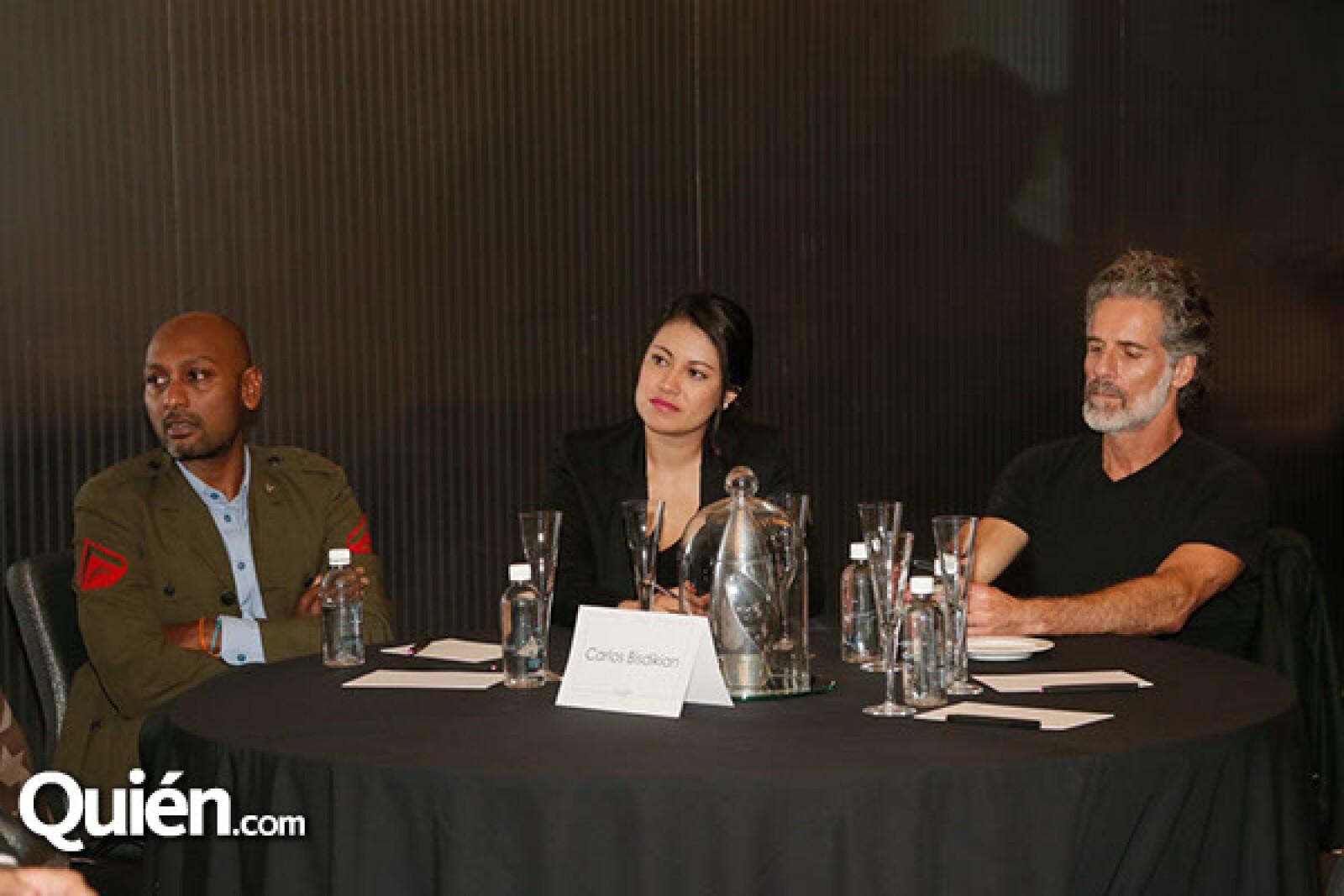 Olivier Janiky,Cinthia Celaya y Carlos Bisdikian