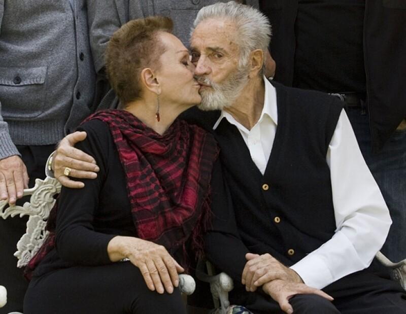 Su esposa Esperanza siempre lo acompañó en las buenas y en las malas.