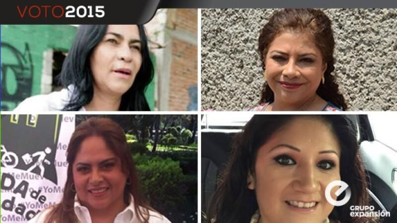 candidatas, iztapalapa, 2015