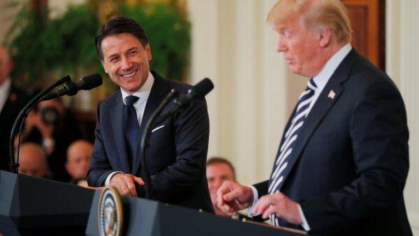 Trump y Conte
