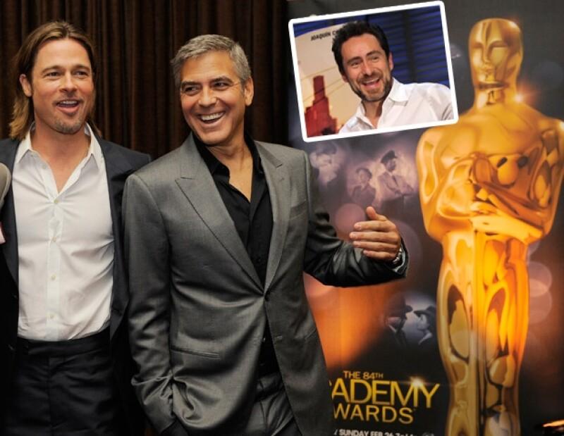 El actor mexicano dijo que pasó un rato agradable en compañía de Brad Pitt.
