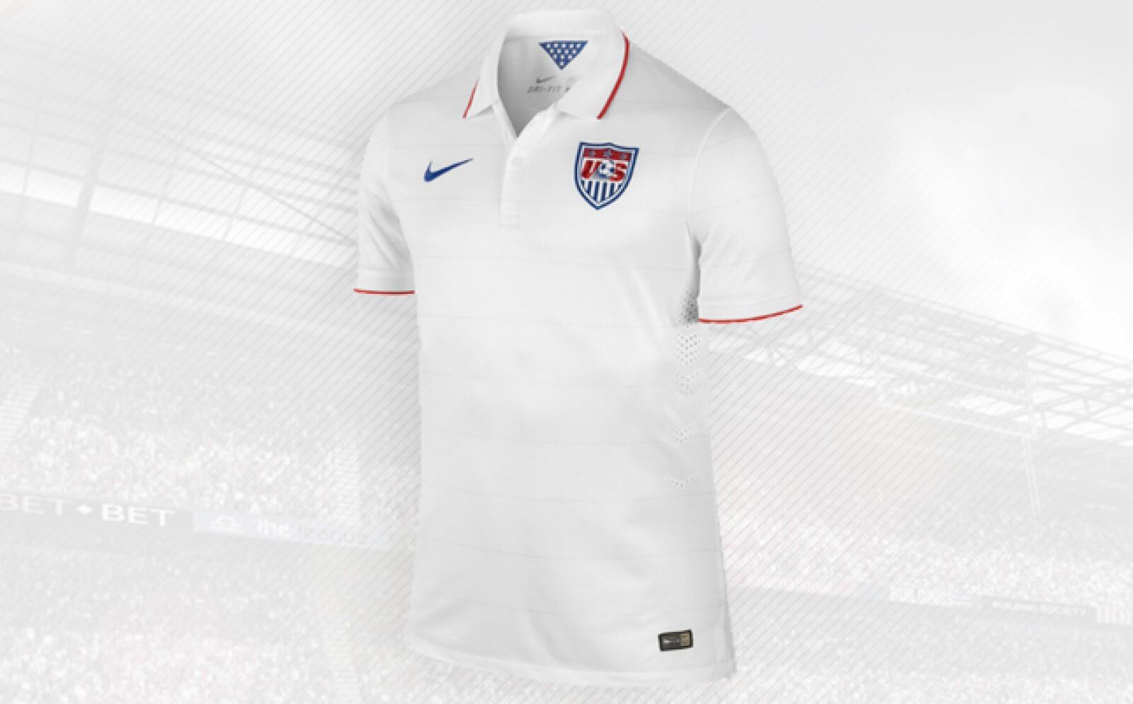 Al igual que Alemania y Ecuador el equipo norteamericano viste con la firma local Nike.