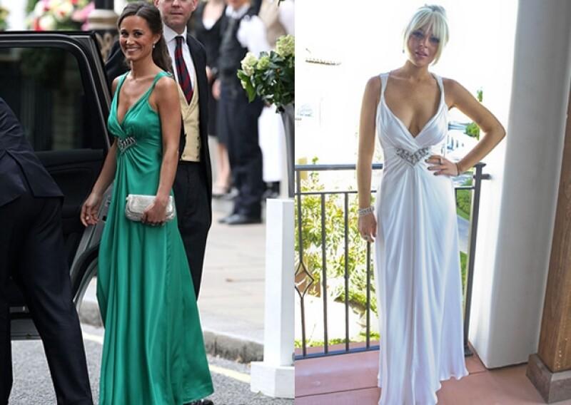 Middleton vistió el mismo atuendo pero con pelo suelto, joyería discreta y en color verde para resaltar su bronceado.