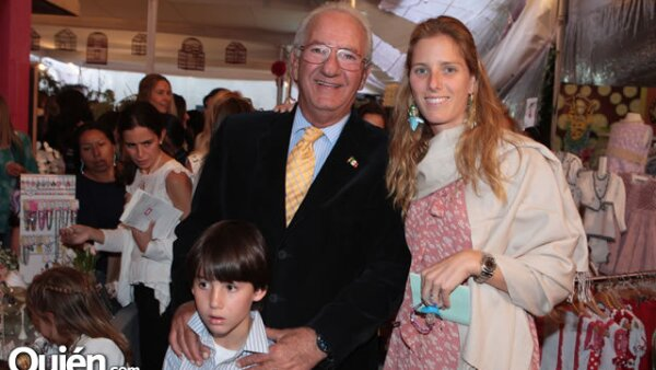 Emilio Azcárraga Jr., Marcos Fastlicht y Sharon Fastlicht