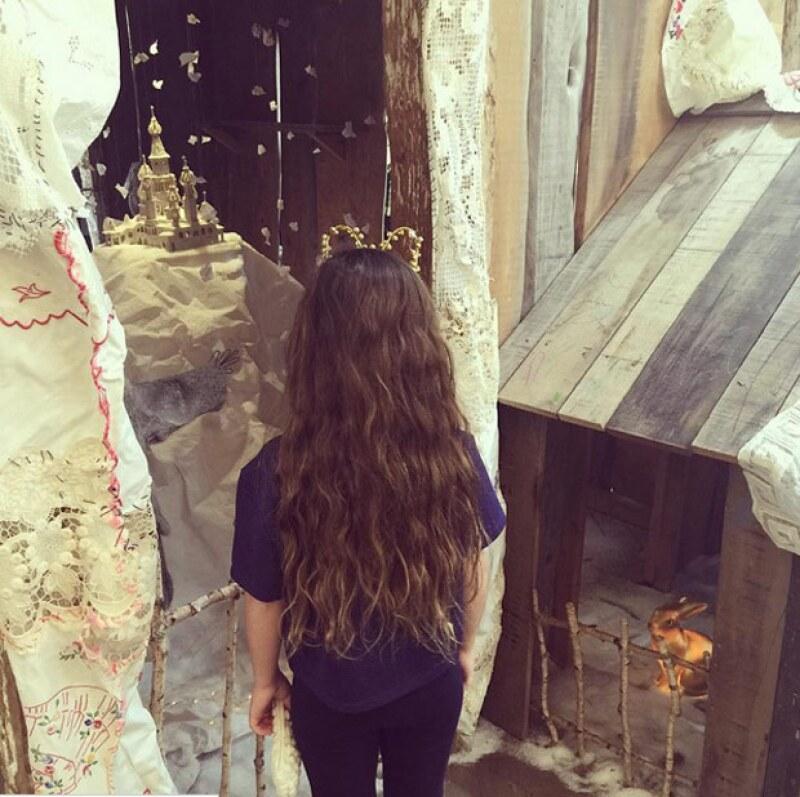 Así luce ahora el pelo de Valentina Paloma, hija de Salma Hayek.