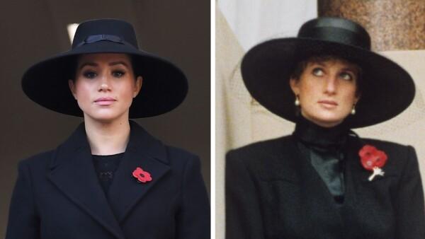 Meghan Markle y la princesa Diana