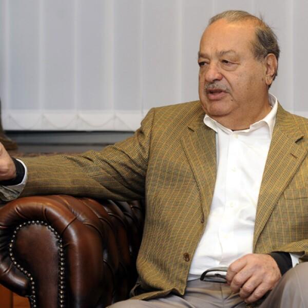 El empresario mexicano Carlos Slim, dueño de América Móvil,  ocupó la primera posición en el ranking de los hombres más ricos del mundo según Forbes.