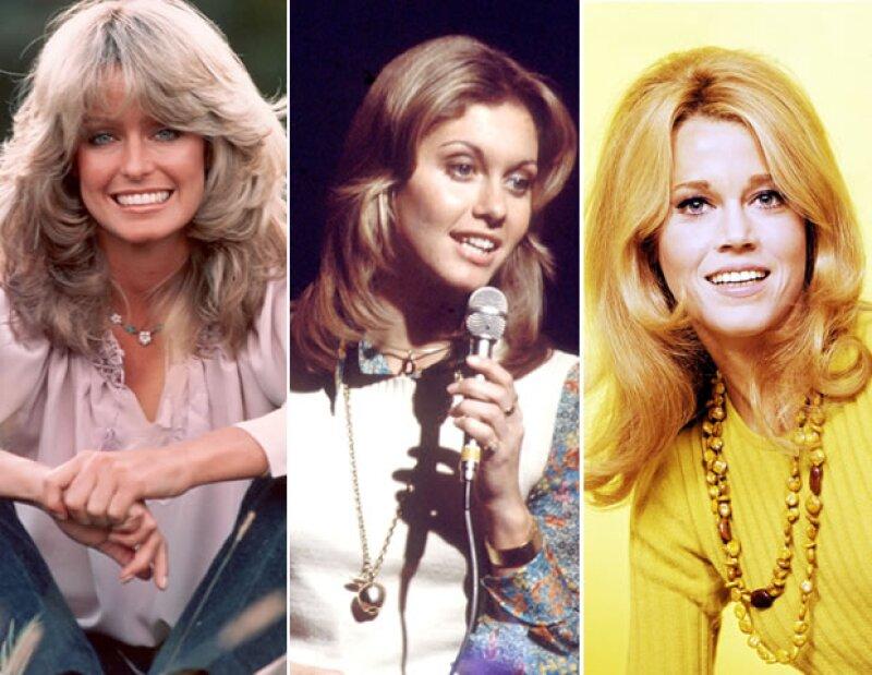 En los 70's, Farah Fawcett, Olivia Newton-John y Jane Fonda fueron grandes íconos de estilo.