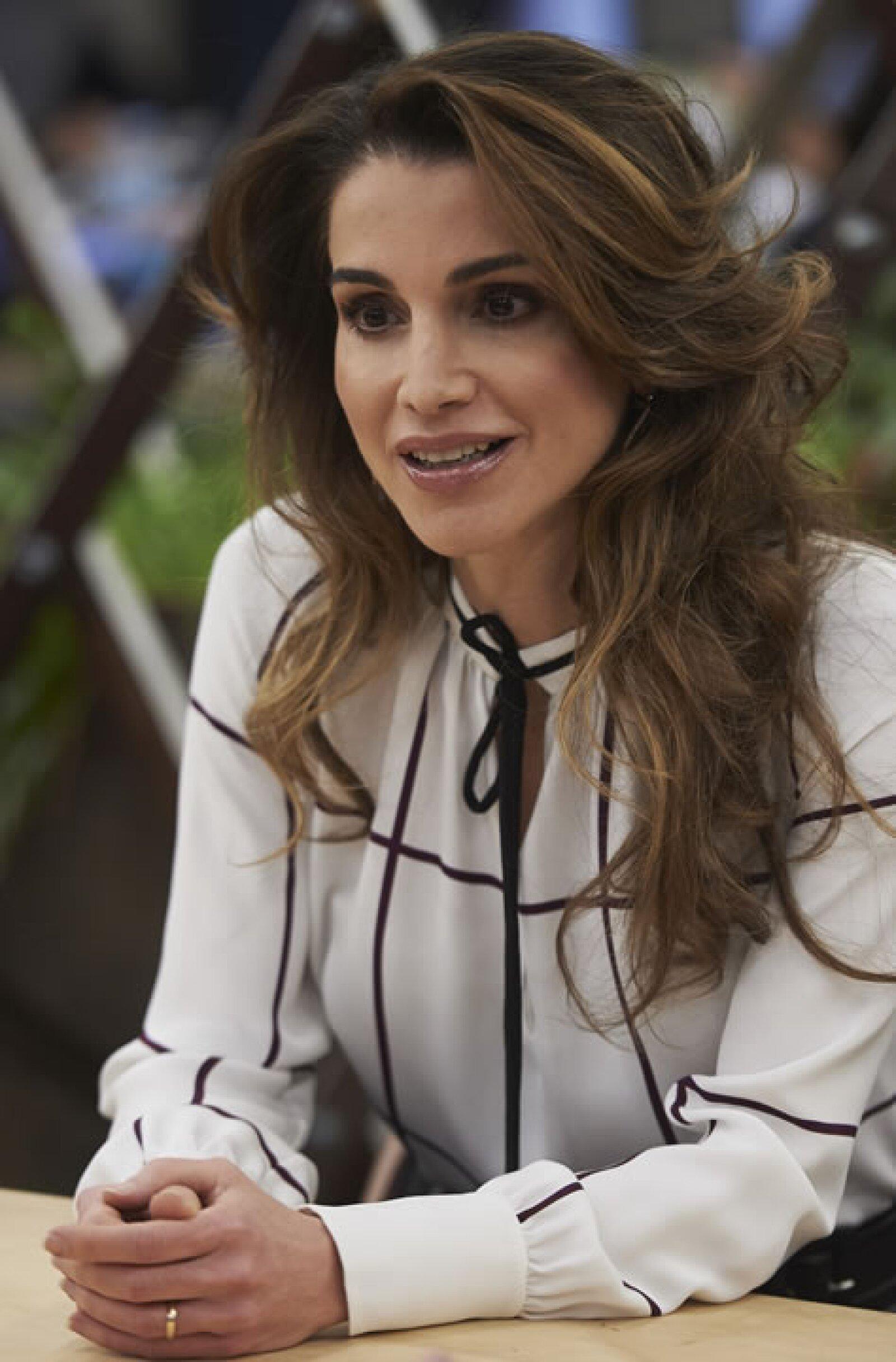 Rania de Jordania, esposa del rey Abdalá II de Jordania.
