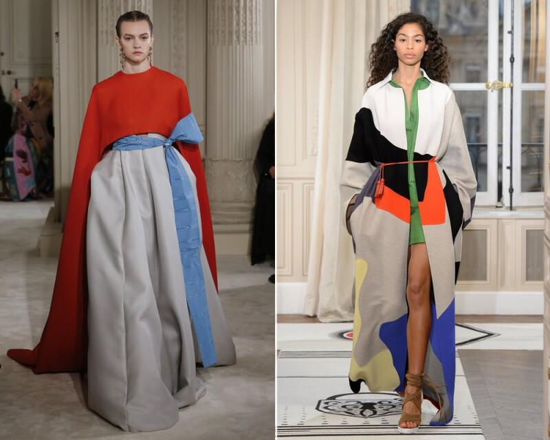 Valentino y Schiaparelli en su reciente entrega Haute Couture en París.