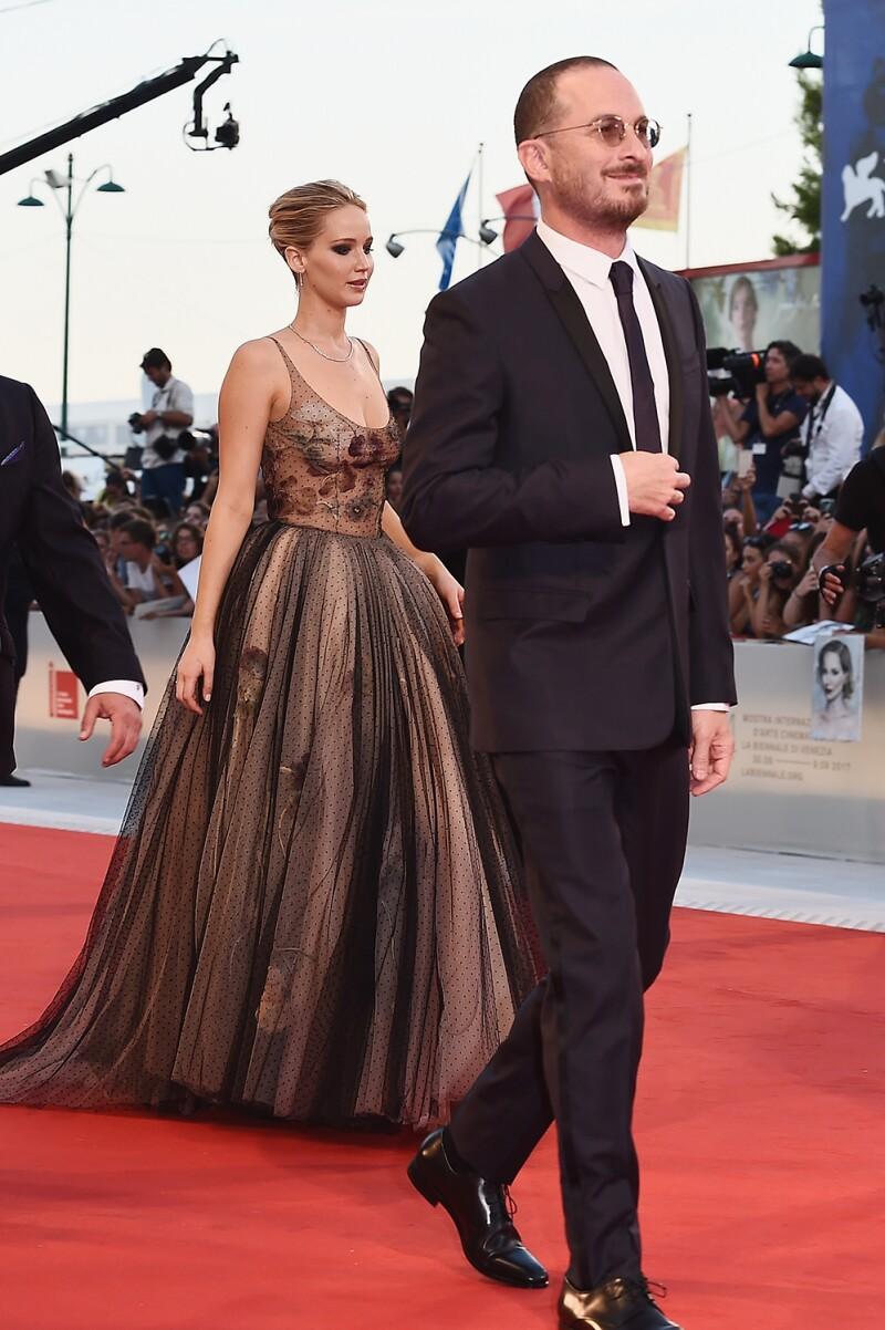 Jennifer Lawrence y Darren Aronofsky