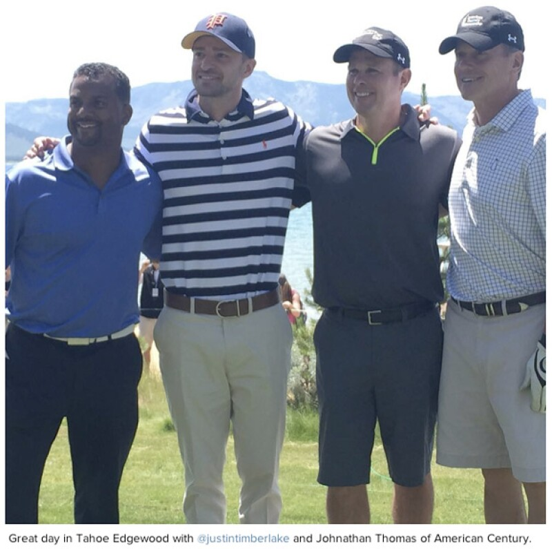 Justin y Alfonso Ribeiro participaron en un torneo de golf en Tahoe. Tras un mal golpe, Timberlake pidió animar al famoso actor de &#39El Príncipe del Rap&#39 y la respuesta fue su famoso baile.