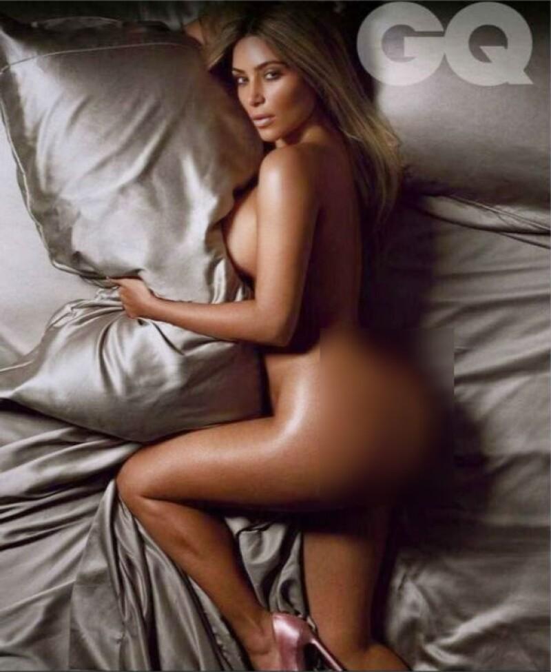 Kim mostró sin temor alguno, uno de sus mejores features: su derrière.