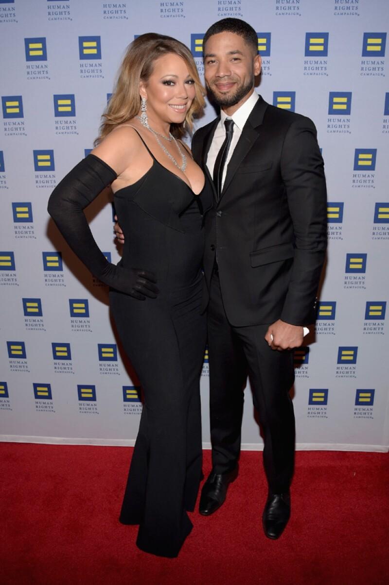 Así se veía Mariah Carey a mediados del mes pasado.
