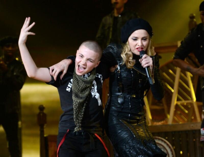 "Rocco acompañó a su mamá durante su gira mundial ""MDNA Tour""."