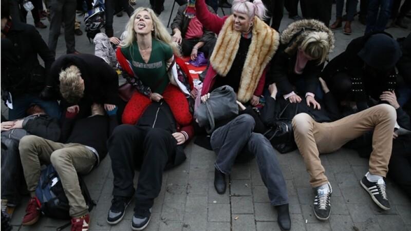 protesta porno face sitting Londres