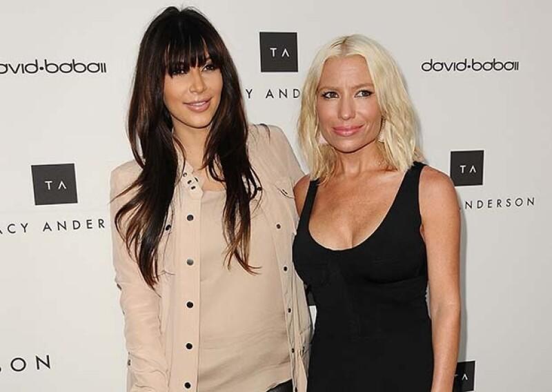 Kim Kardashian recurrió a la preparadora física para recuperar su figura después del embarazo.