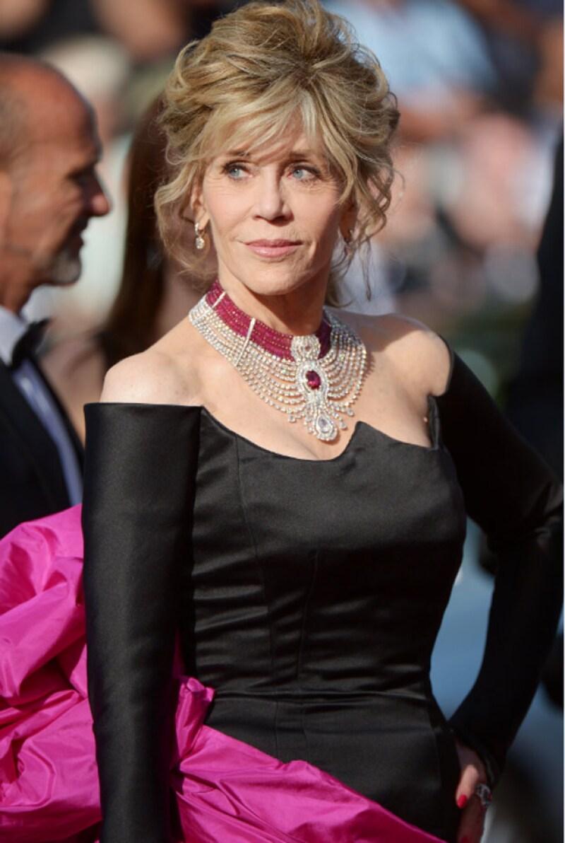 """Jane Fonda en la presentación de la cinta """"Youth"""" en el Festival Internacional de Cine de Cannes."""