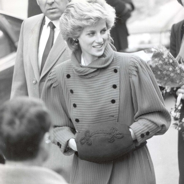 Princess Diana Of Wales February 1986 Princess Diana With Hand Muff Against Cold On Visit To Brixton Today. ...royalty