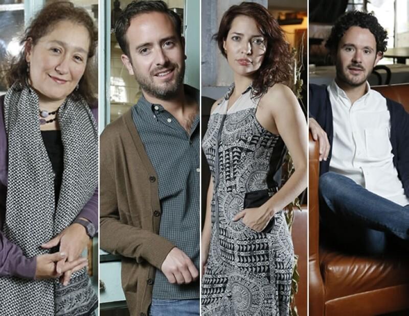 Marina Stavenhagen, Pepe Bezaury, Ariadna Ramonetti y Toño Vilches son los curadores de las diferentes disciiplinas del festival.