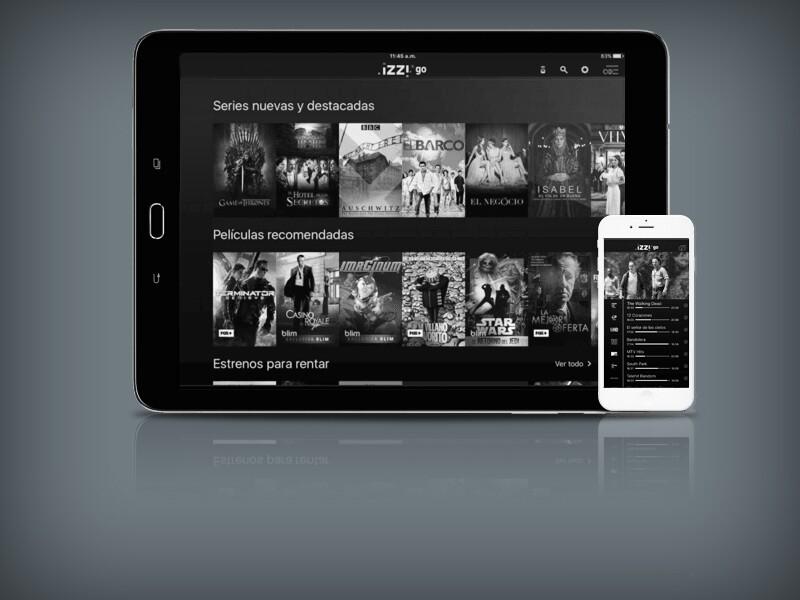 Los nuevos servicios de izzi TV son bajo demanda y la aplicación para dispositivos móviles.