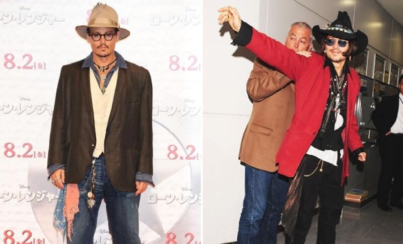 El estilo ecléctico de Johnny Depp es fácil de invitar.