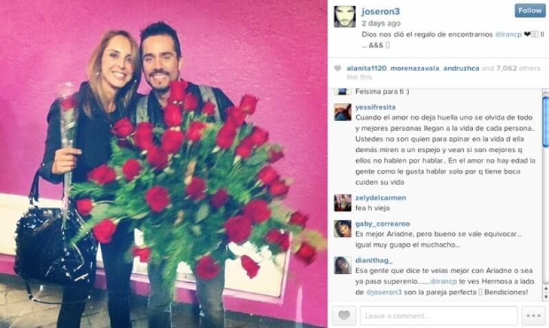 """A pesar de que hace ya varios meses José Ron y Ariadne Díaz terminaron, los fans de la actriz la siguen defendiendo al decir que es """"mejor novia"""" que Irán."""