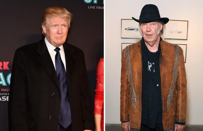El cantante Neil Young no quiere que Donald Trump utilice su música para su campaña y declaró que apoya a un político del partido contrario.