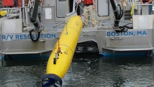 Los drones son lanzados desde embarcaciones donde los colocan en la zona a investigar