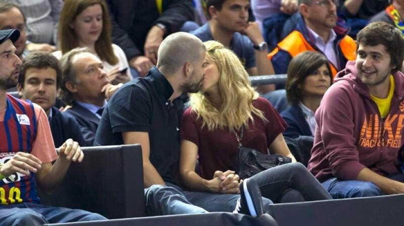 Shakira y Piqué no dejaron de demostrar su amor en público.