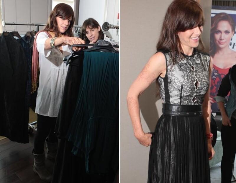 Iliana se probó varios outfits, el resultado final lo veremos en la alfombra roja del Festival de Cine de Morelia.