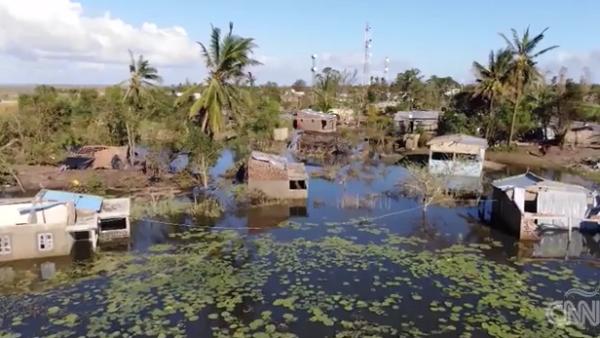 Un dron capta la devastación que dejó el ciclón 'Idai' en Mozambique