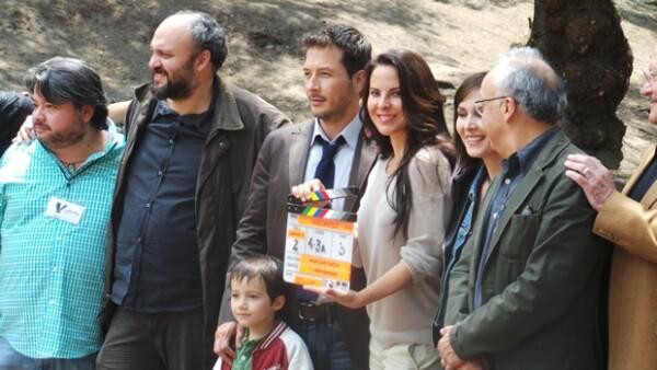 La actriz, junto con Raúl Méndez dieron el claquetazo en el parque Lincoln ubicado en Polanco.