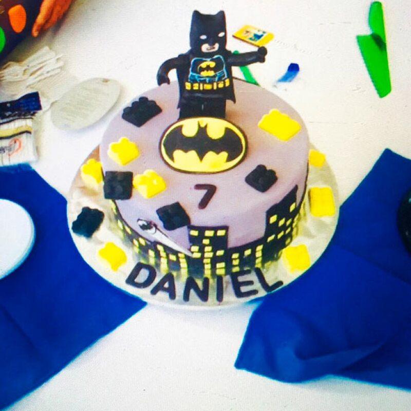 Este fue el pastel elegido para que Daniel disfrutara de su cumple.