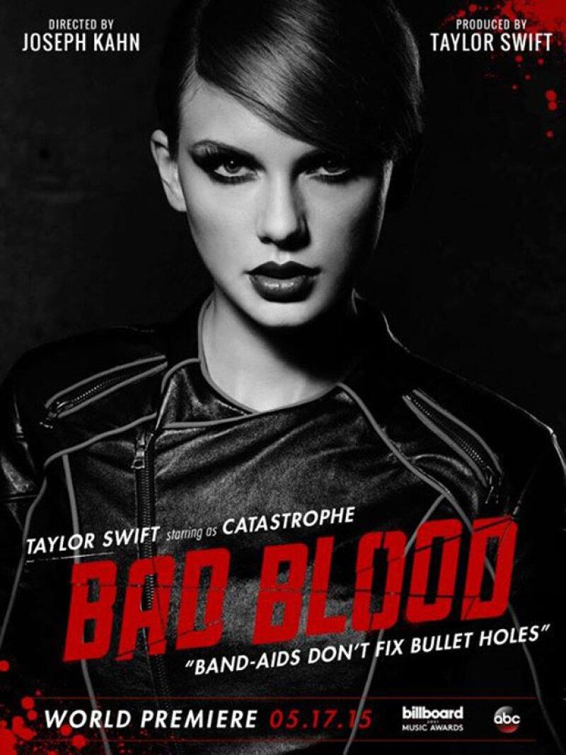 """Desde hace más de una semana, la cantante ha publicado los distintos personajes que formarán parte de su sencillo, """"Bad Blood"""", entre ellos Jessica Alba, Karlie Kloss y Gigi Hadid."""
