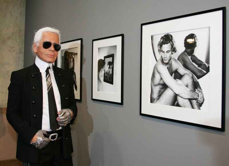 Exhibition Opening With Karl Lagerfeld