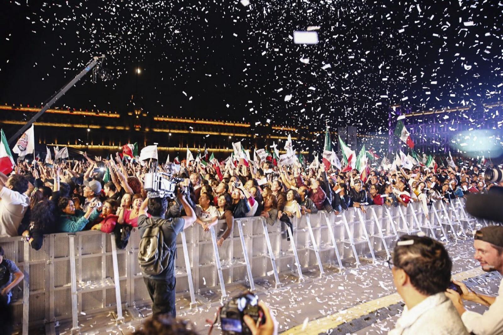 El festejo en el Zócalo