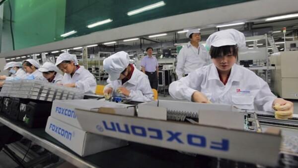 Empleados de Foxconn en China