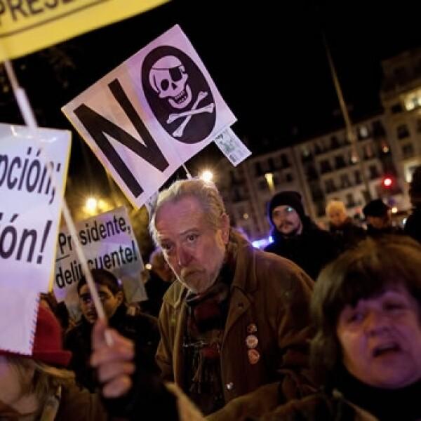 protesta en españa por escandalo de corrupcion