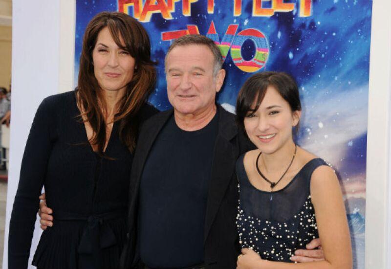 Robin Williams en uno de sus últimos eventos con Susan y su hija Zelda.