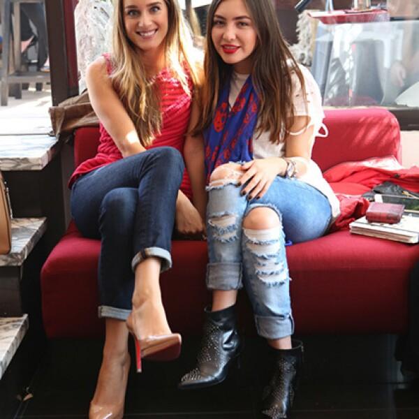 Pamela Cortés y Fernanda Hilmann
